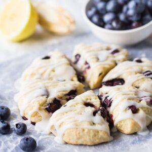 Baking Blueberry Scones
