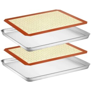 wildone baking sheet sets with silicone baking mats