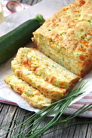 A Recipe for zucchini bread with cheddar cheese.