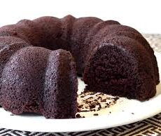 A Recipe For A Double Chocolate Bundt Cake.