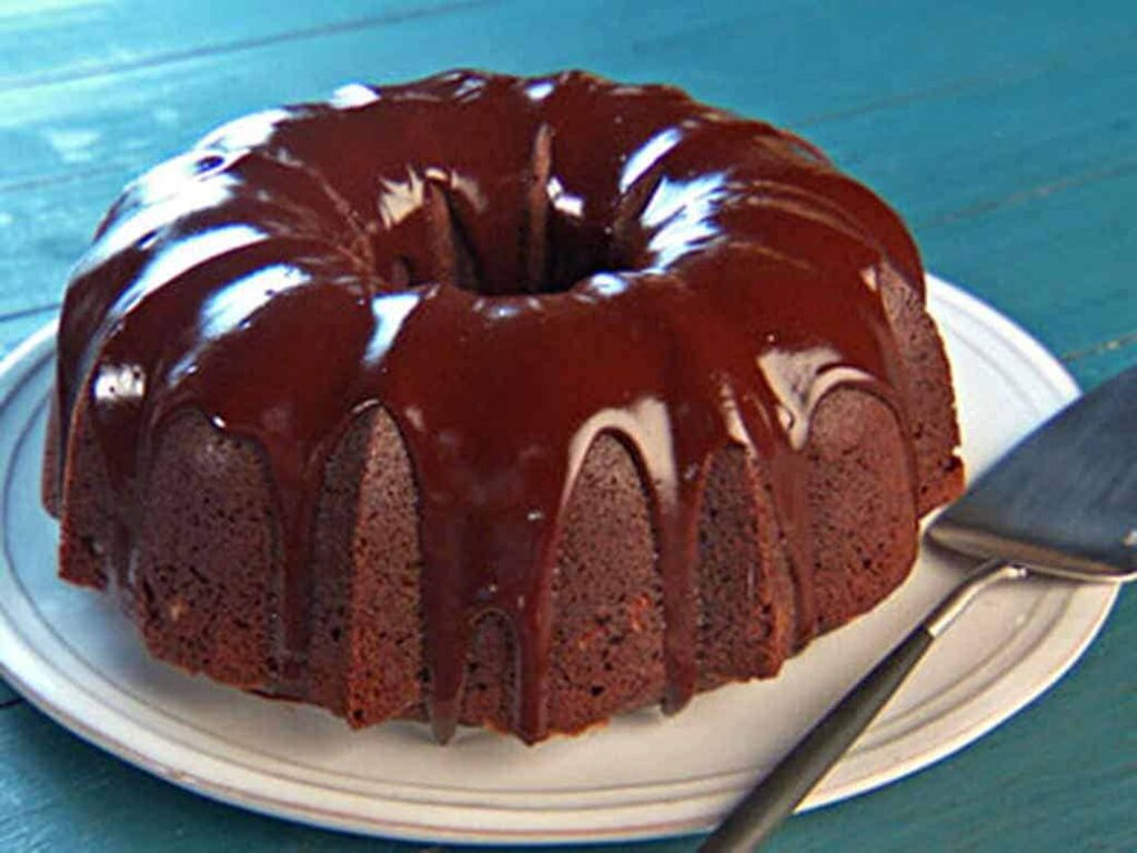 Double Chocolate Bundt Cake With Icing