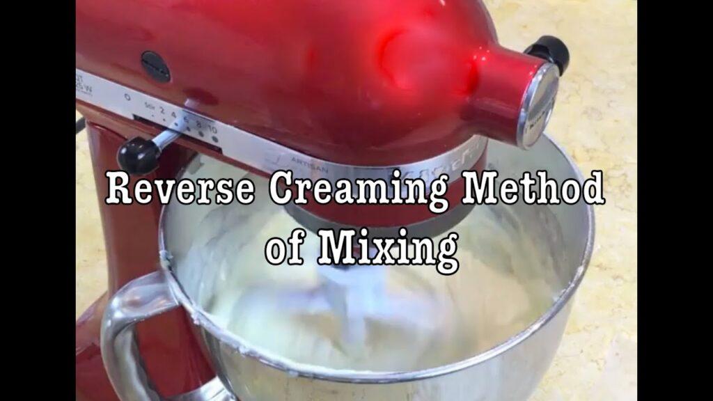 Reverse Creaming Cake Mixing Method